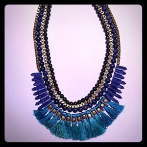 Stella & Dot Statement Tassel Necklace